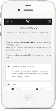Webstatic standing mobile website